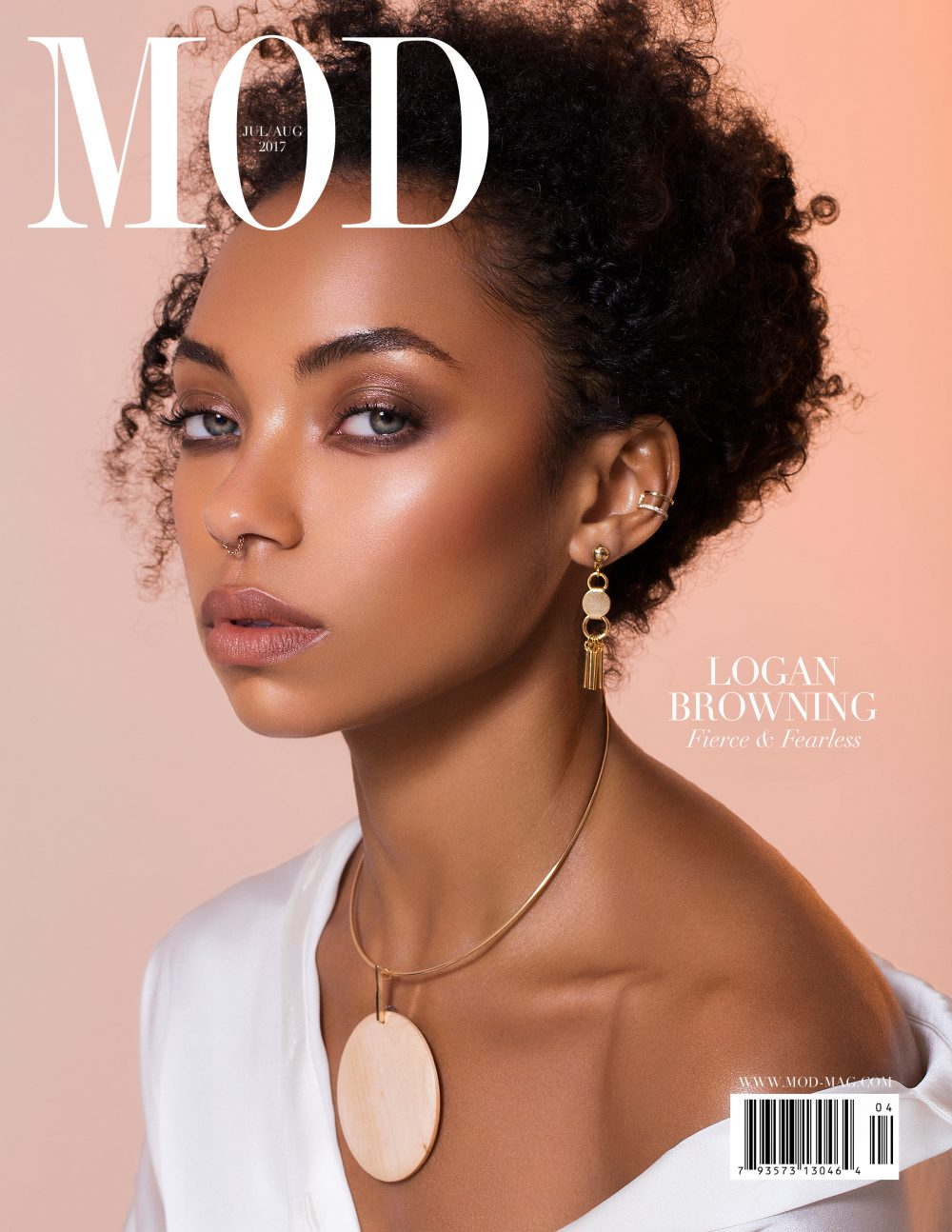 MOD Magazine Cover Logan Browning Photoshoot